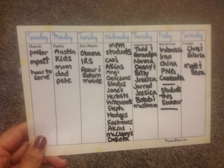 picture relating to Printable Prayer List titled Weekly Prayer Checklist Printable - Missional Females